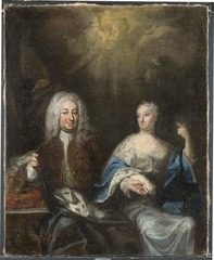 Fredrik I, 1676 - 1751, och Ulrika Eleonora d.y., 1688 - 1741. Konung och Drottning av Sverige