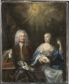 Fredrik I, 1676, 1751, och Ulrika Eleonora d.y., 1688, 1741. Konung och Drottning av Sverige - Nationalmuseum - 45536.tif