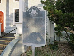Frelsburg, Texas - Image: Frelsburg TX Catholic Marker