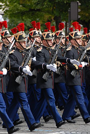 Shako - French Republican Guard at the Bastille Day Military Parade.