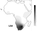 Frequency maps based on HVS-I data for haplogroups L0d.png