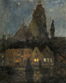 Frits Thaulow Kveldstemning, Dieppe 1894-1898.png