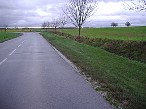 Roclincourt - Front line to the northeast of the village