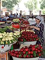 Fruit Baskets with Vendor - Central Food Market - Margilon - Uzbekistan (7553287588).jpg