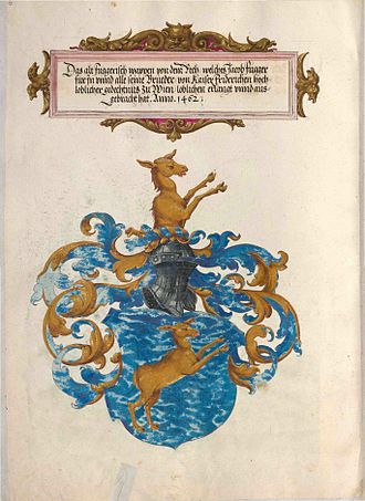 """Fugger - Coat of Arms of the """"Fugger of the Deer"""""""