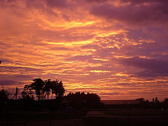 Afterglow - Image: Full Image Sunset Bates College Lewiston Maine July 3 2008 8.30PM