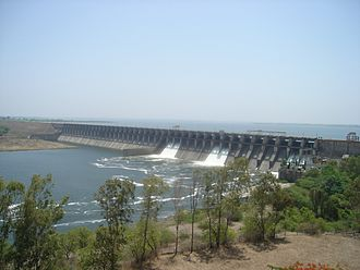 Krishna River - Panoramic view of Ujjani or Bhima Dam