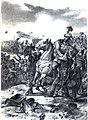 Görgei is wounded in the Battle of Komárom 2 July 1849.jpg
