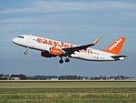 G-EZWY easyJet Airbus A320-214(WL) cn6267 takeoff from Schiphol (AMS - EHAM), The Netherlands pic2.JPG