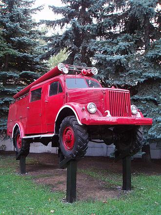 GAZ-63 - GAZ-63 PMG-19 firetruck in Lyubertsy