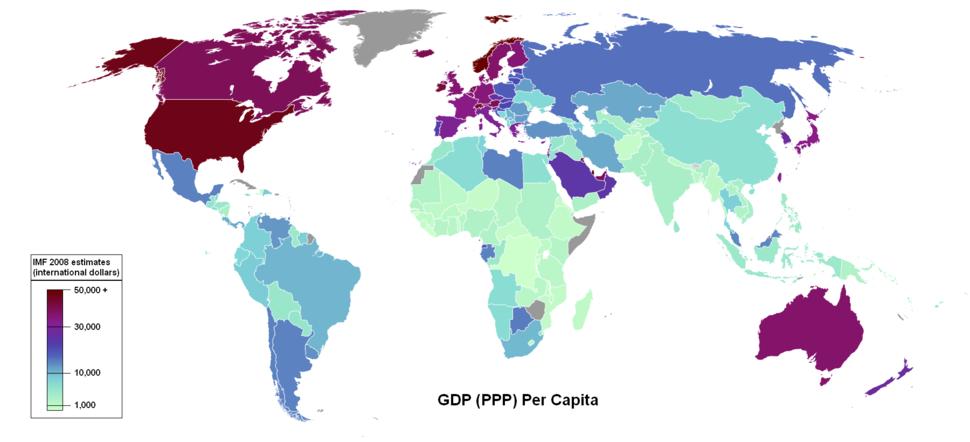 GDP PPP Per Capita IMF 2008