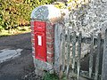 GR postbox outside St. Peter's Church, Dormington - geograph.org.uk - 673313.jpg