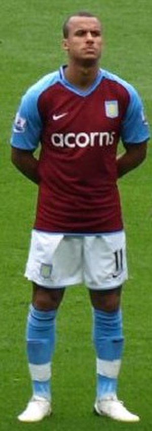 Gabby Agbonlahor - Agbonlahor lining up for Aston Villa in 2008