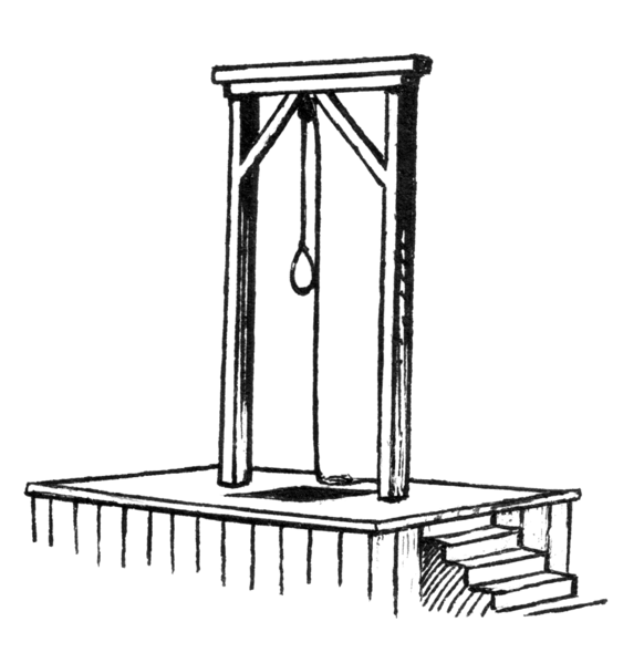 public domain: https://commons.wikimedia.org/wiki/File:Gallows_(PSF).png