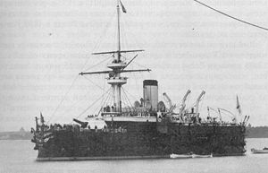 Russian coast defense ship Gangut - Image: Gangut battleship 1888