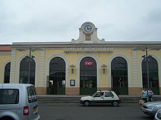 railway station in Montauban, France