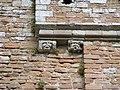Gargoyles on wall at Brougham Castle - geograph.org.uk - 1527908.jpg