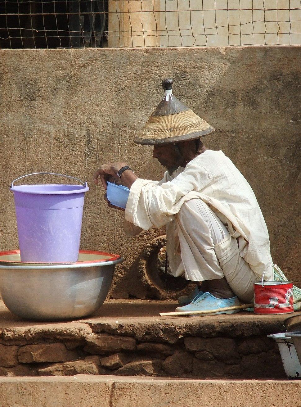 A Pullo (Fulani) man in Garibou village, Togo, West Africa