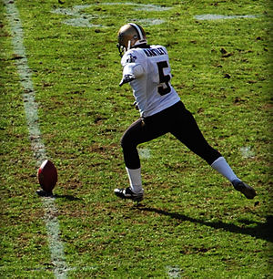 Garrett Hartley - Hartley on November 16, 2008 in a game against the Kansas City Chiefs