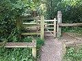 Gate, edge Monken Hadley Common near Castlewood Road (2).jpg