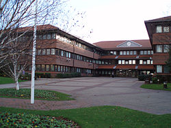Gateshead Civic Centre, the seat of the Borough Council
