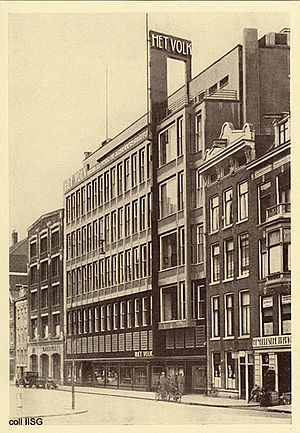 Jan Buijs - De Arbeiderspers Building, photographed in 1930