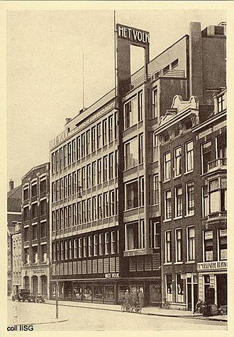 Jan Buijs - De Arbeiderspers Building, photographed in 1930