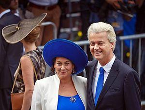 Geert Wilders - Krisztina and Geert Wilders on Prinsjesdag in 2014