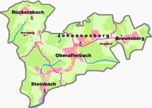 Johannesberg, Bavaria - Constituent communities
