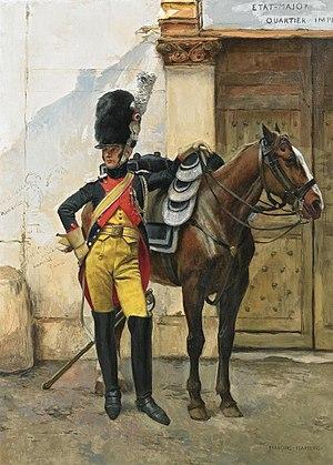 Gendarmes d'élite de la Garde Impériale - Image: Gendarme d'élite au quartier général de l'Empereur