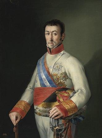 Francisco Javier de Elío - Portrait by Miguel Parra, ca. 1815