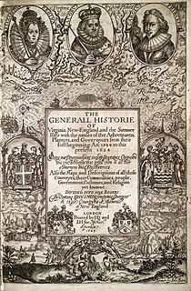 <i>The Generall Historie of Virginia, New-England, and the Summer Isles</i>