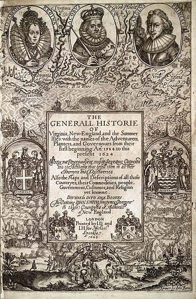 1 Corona de Elisabeth II. 1964. Bermudas 393px-Generall_Historie_of_Virginia