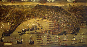 Genoese navy - The Genoese fleet at anchor in 1481.
