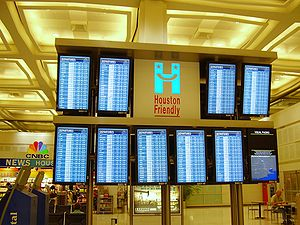 Flight information display system at George Bu...