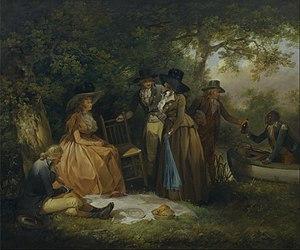 George Morland -  George Morland – The Anglers' Repast