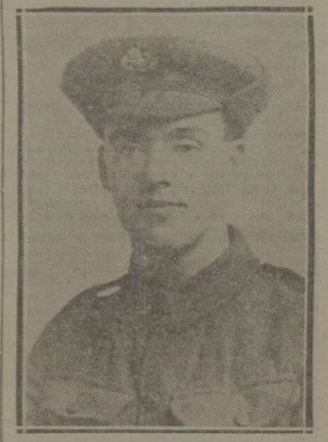 George Sanders (VC) - Sanders pictured in the Leeds Mercury on the announcement of his Victoria Cross award