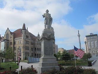 Lackawanna County, Pennsylvania - Statue of George Washington (dedicated July 4, 1893) at Lackawanna County Courthouse