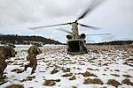Georgian soldiers sprint towards a helicopter 150222-M-GF383-004.jpg