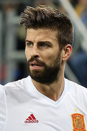 Gerard Piqué - Piqué with Spain in November 2017