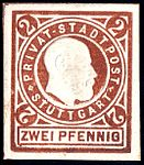 Germany Stuttgart 1889 local stamp 2pf - 17.jpg