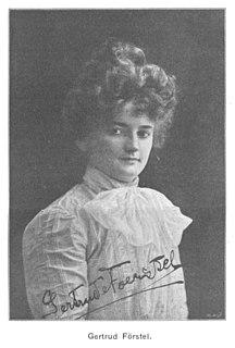 Gertrude Förstel German opera singer (1880-1950)