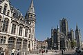 Ghent. From left - Old post office, Saint-Nicholas Church and Belfry (5677394348).jpg