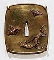 Giappone, periodo edo, tsuba (coprimano da elsa di spada), xviii e xix secolo, 05 uccelli e fiori.jpg