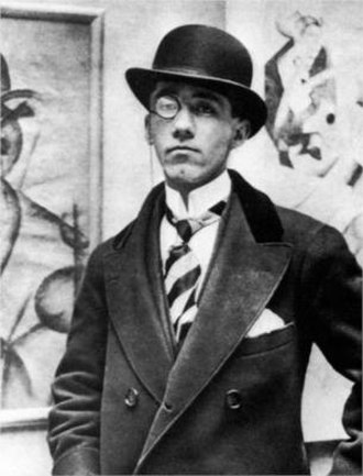 Gino Severini - Gino Severini, aged 30, at the opening of his solo exhibition at the Marlborough Gallery, London