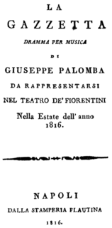 <i>La gazzetta</i> Rossini opera