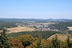 Gladenbach from Koppe-Tower