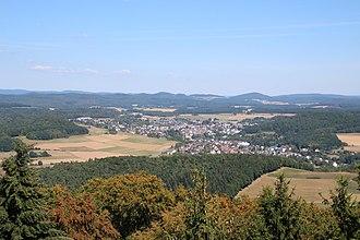 Gladenbach - Gladenbach from Koppe-Tower