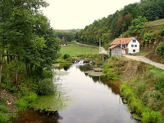 Glina (river) - Glina in Maljevac