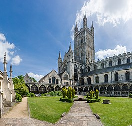 Gloucester Cathedral from Cloister, Gloucestershire, UK - Diliff.jpg